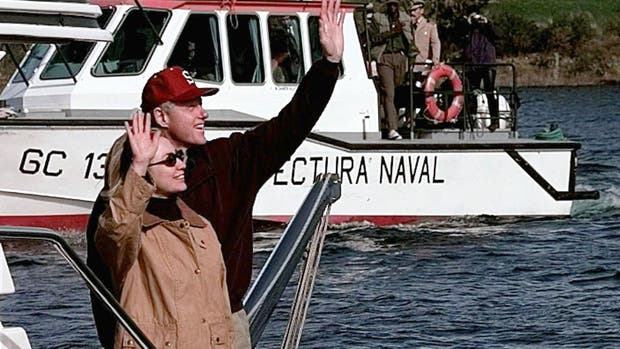 Hillary y Bill Clinton, en Bariloche