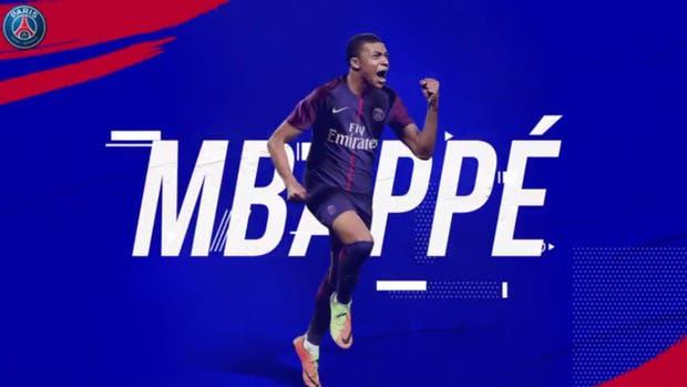 PSG hizo oficial la contratación el mismo día del primer gol de Mbappé en la selección francesa