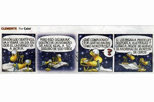 La tira que salió publicada en Clarín el día de su fallecimiento. Foto: Diario Clarín