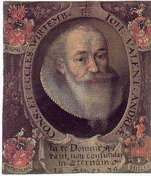 Detalle de un retrato de Johann Valentin Andreae