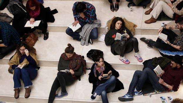 Más de 300 personas recibieron el invierno en el Malba en un encuentro de lectura silenciosa. Foto: LA NACION / Santiago Filipuzzi