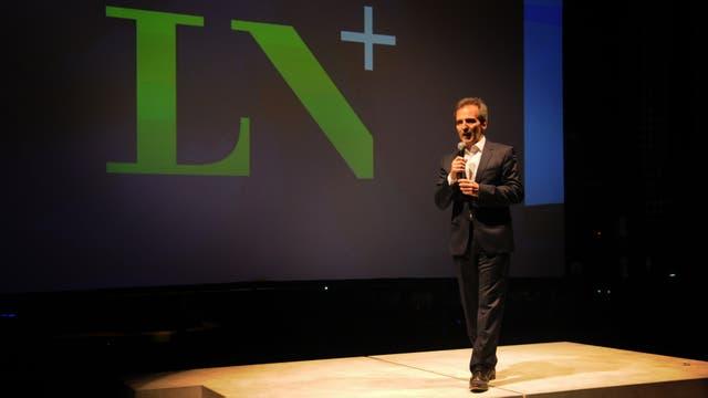 Guillermo Rivaben, CEO de LA NACION, en la presentación de la señal LN+. Foto: LA NACION