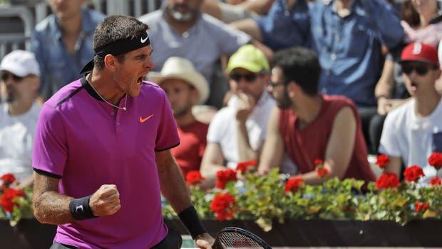 Del Potro ganó en Roma y se metió en octavos de final