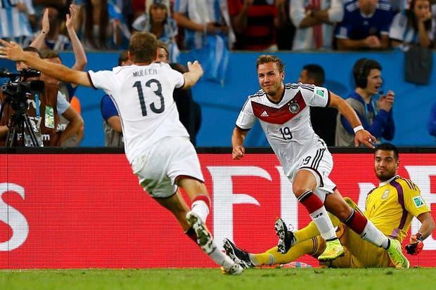 La Argentina perdió con Alemania 1-0 en la final.  Foto:Reuters