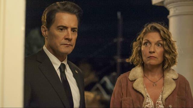Kyle MacLachlan y Sheryl Lee en Twin Peaks