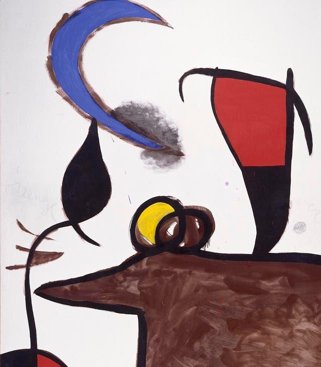 Mujeres pájaro en la noche / Joan Miró