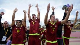 Los chicos venezolanos celebran la clasificación al Mundial