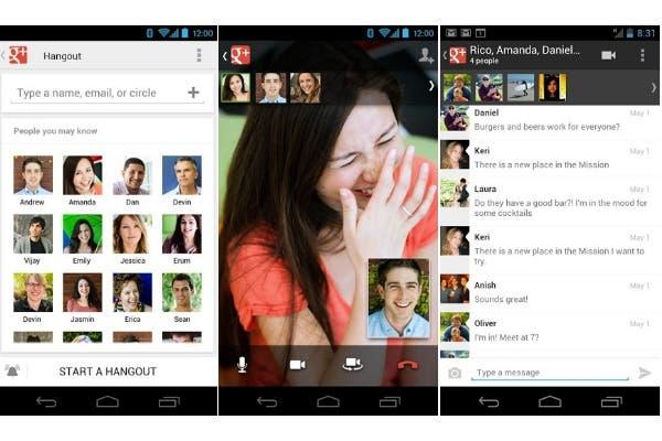 Google ofrece su Hangout para Android y PC, que permite llamadas y videollamadas