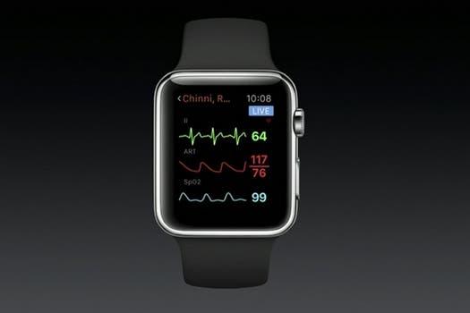 El sensor del Apple Watch en acción.