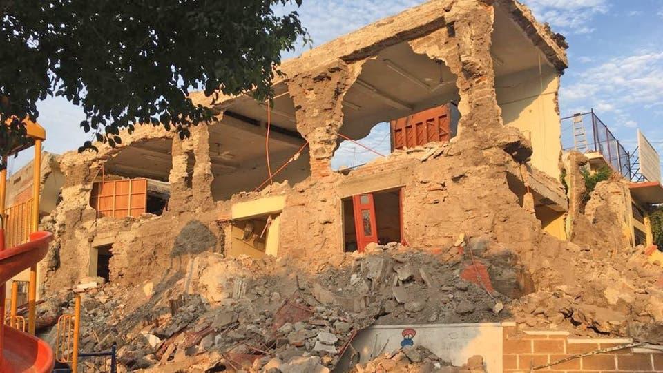 Las viejas casas quedaron reducidas a escombrios. Foto: AP
