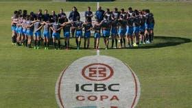 Los Pumas reunidos en el Captain''s Run, último entrenamiento en Jujuy antes del choque ante Georgia