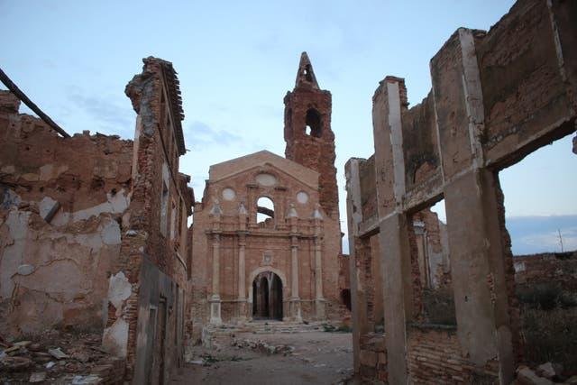 En la iglesia más grande de Belchite se han grabado psicofonías en las que se escuchan aviones bombarderos,gritos y disparos