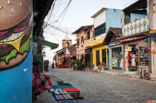 Las calles de Abraão, el pueblito de Ilha Grande