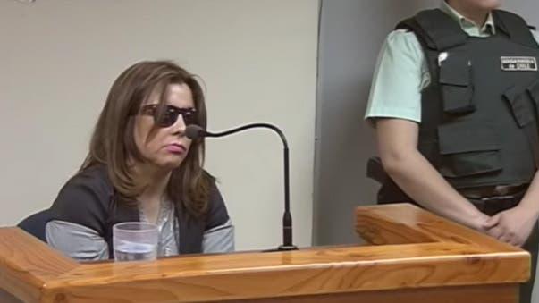 La víctima, durante el juicio al hombre que le arrancó los ojos