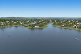 Render de la laguna en Las Golondrinas, en el eje Hudson, de la zona sur