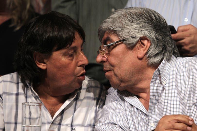 Michelli y Moyano durante la conferencia de prensa el día del paro general del 20 de noviembre. Foto: LA NACION / Fabián Marelli