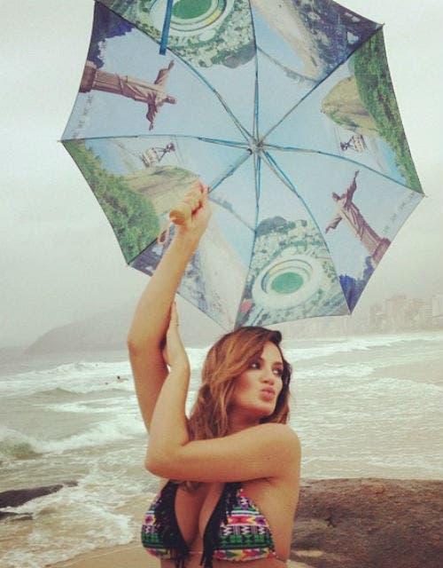 Paula Chaves, muy linda en Río