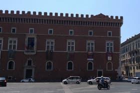 El palazzo en el centro de Roma fue el lugar de apertura de la exhibición
