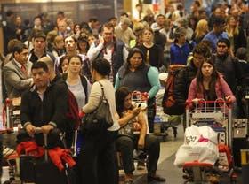 Los retrasos causaron malhumor entre los pasajeros