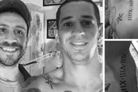 El tatuaje de Leandro Romagnoli: le escribieron mal los números romanos y le improvisaron una solución