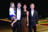 Antonia Macri (5) también fue parte de la comida en honor al primer ministro canadiense.