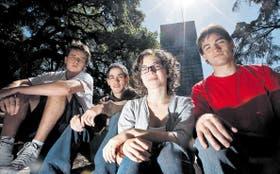 Martín César, Santiago Janse, Ornella Sordelli y Claudio Barone destacaron el apoyo que recibieron de sus familias, clave para crecer