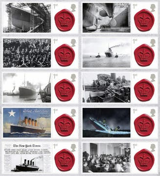Una colección original de sellos forman parte de la subasta. Foto: EFE
