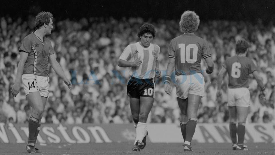 13-6-1982: el debut mundialista en España 82, contra Bélgica.. Foto: LA NACION