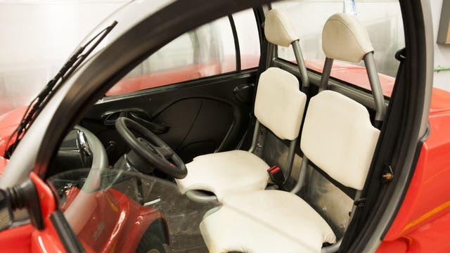 El primer auto eléctrico que se fabricará en el país. Foto: AFV/Santiago Cichero