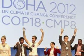 Uno de los paneles de trabajo en Doha, con argentinos participando