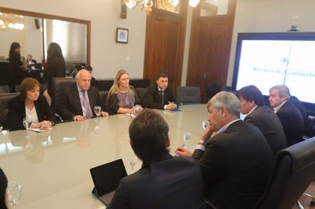 La reunión esta mañana entre Lifschitz con Buryaile y el secretario Reyser, de Cancillería