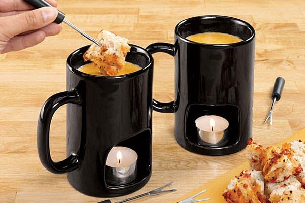 Estos días de otoño son ideales para comer una fondue, ¿qué tal este set individual?. Foto: Ohgizmo.com