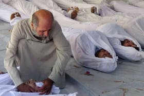 Esta semana hubo un gran ataque a civiles con armas químicas en Damasco
