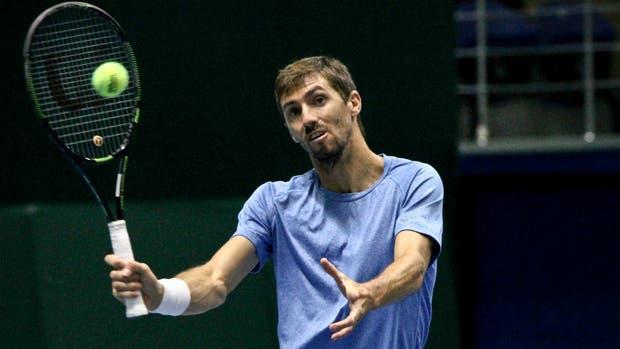 La volea de Molteni; ell doblista de 29 años debutará por la Copa Davis este sábado frente a Kazakhstán