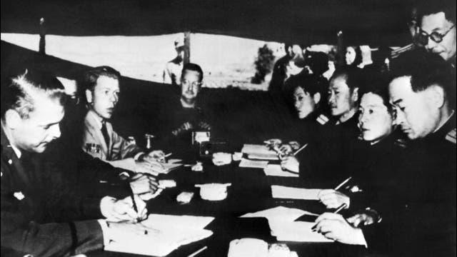 Así se firmó el armisticio en 1953