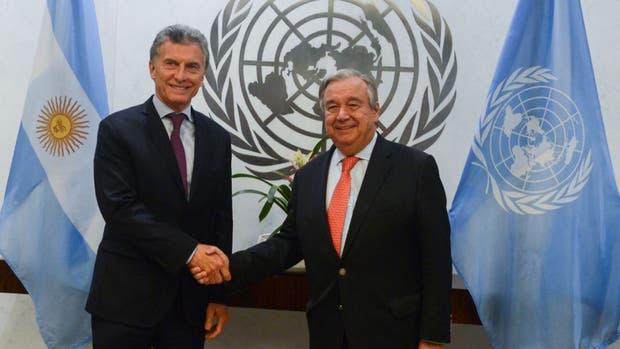 Macri se reúne con Guterres, Secretario General de Naciones Unidas