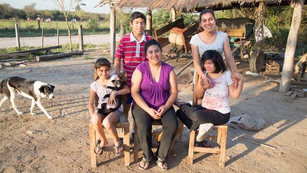 Daniela Albornoz, junto a su familia