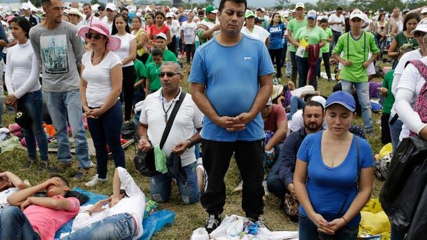 El Papa Francisco en Villavicencio reunido con victimas y victimarios del conflicto armado y encabezando una gran oración por la paz. Foto: AP / Ricardo Mazalan