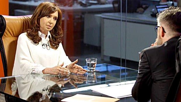 La ex presidenta Cristina Fernández de Kirchner entrevistada por Luis Novaresio