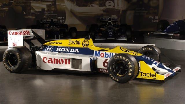 Williams FW11-Honda, ganó 18 GG.PP., dos Copas de Constructores y una título de Pilotos, en 1986 y 1987 (Wikimedia.com)
