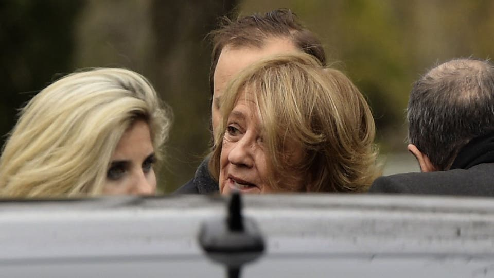 Maria del Carmen Cerruti. madre de la Reina Máxima llega al cementerio Memorial de Pilar. Foto: AFP / Juan Mabromata
