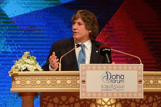 En el Foro de Doha, Qatar. Foto: Télam