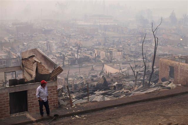 Las viviendas de la localidad de Santa Olga fueron destruidas por el incendio