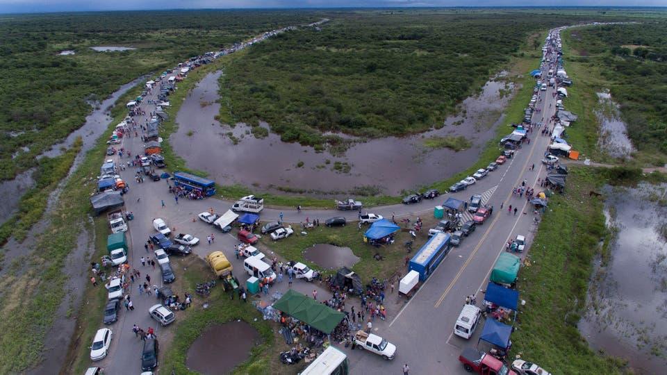 Un impactante vista de la inundación. Foto: LA NACION / Fernando Font