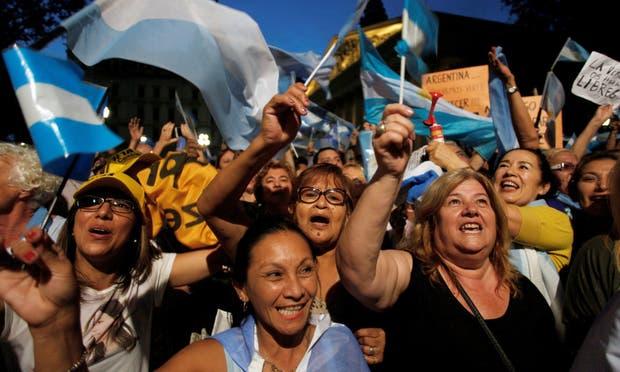 Buenos Aires. Se transformó en el lugar de mayor convocatoria; hubo un apoyo directo al Gobierno