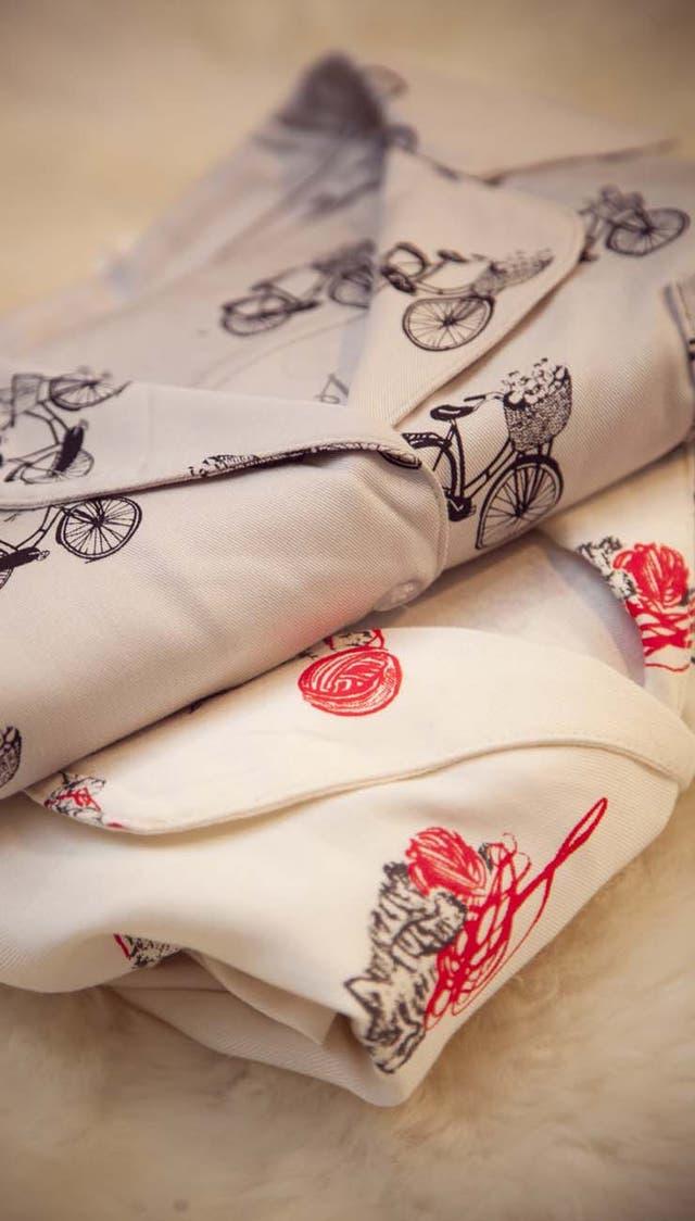 Los pijamas de Julieta Ortegavienen con ilustraciones exclusivas de la ilustradora Fernanda Cohen, do fundadora de la marca