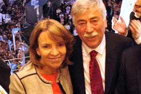 Soria junto a su esposa Susana Freydoz
