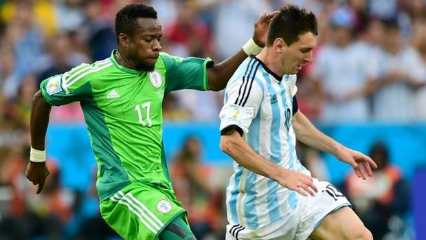 Messi enfrentó a Nigeria en Brasil 2014