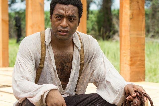 Chiwetel Ejiofor como Solomon Northup en 12 años de esclavitud