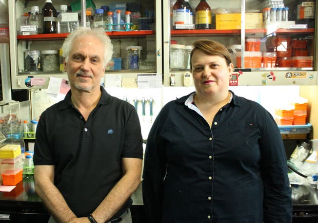 Osvaldo Podhajcer y Verónica López, del Instituto Leloir